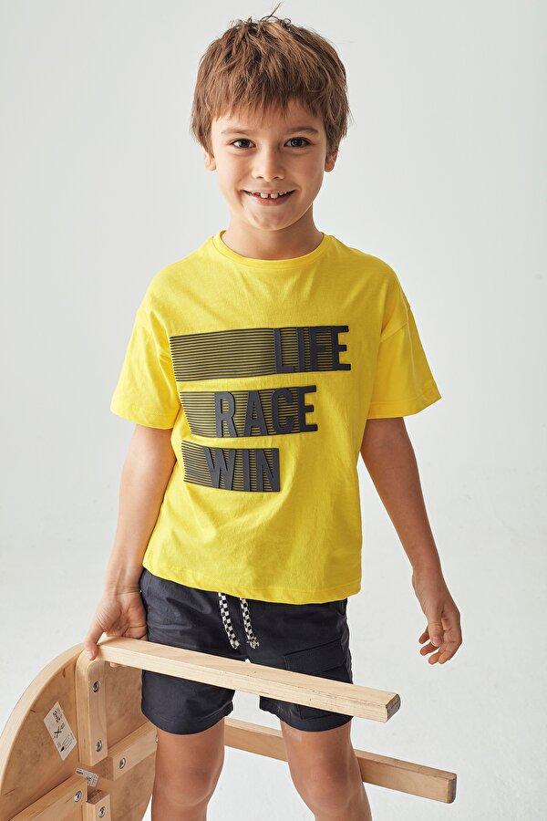 Resim Erkek Çocuk Sarı T-Shirt