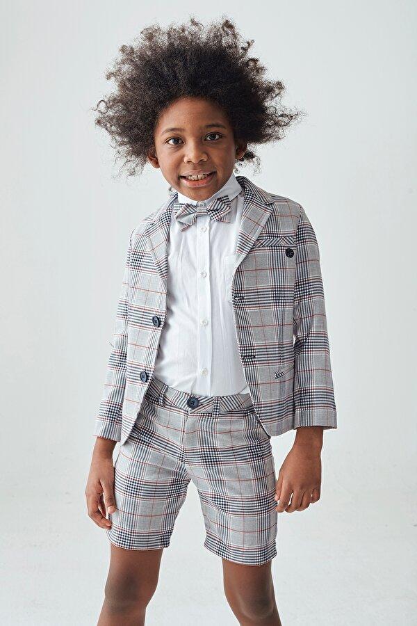 Resim Erkek Çocuk Ekose Ceket