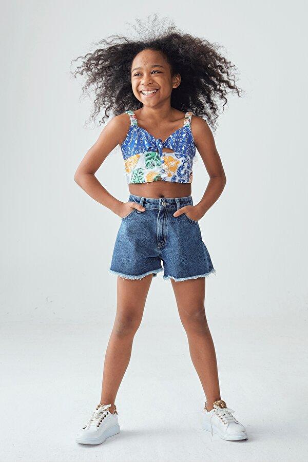 Resim Kız Çocuk Jean Şort