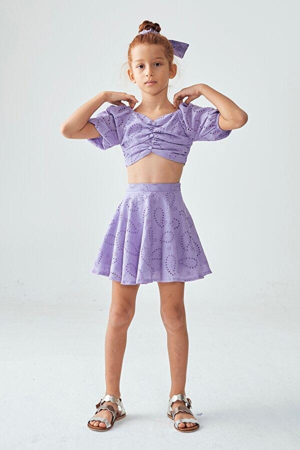Resim Kız Çocuk Lila Etek