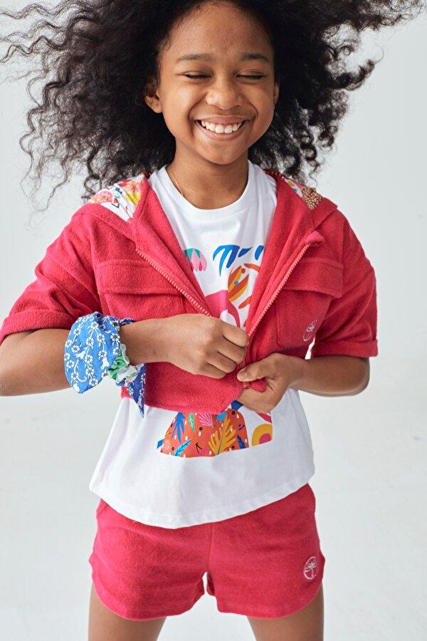 Resim Kız Çocuk Fuşya Eşofman Üstü