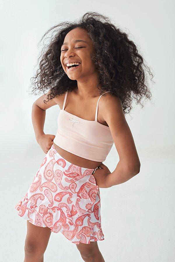 Resim Kız Çocuk Pembe Crop Top