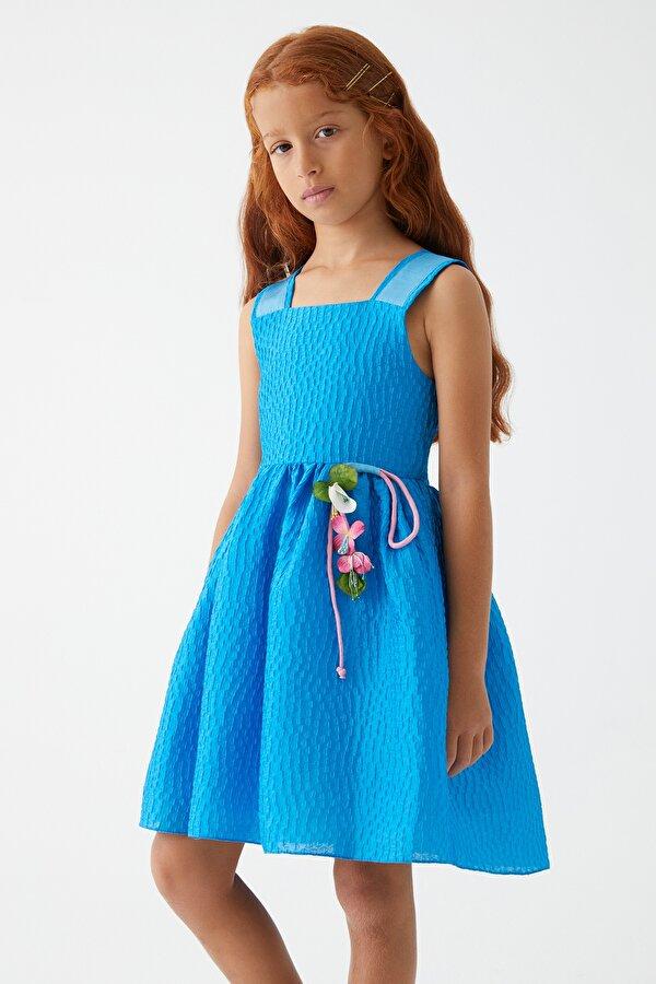 Resim Kız Çocuk Mavi Elbise