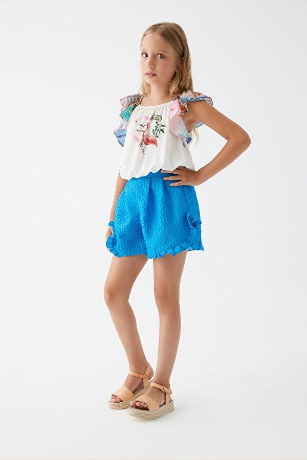 Resim Kız Çocuk Mavi Şort