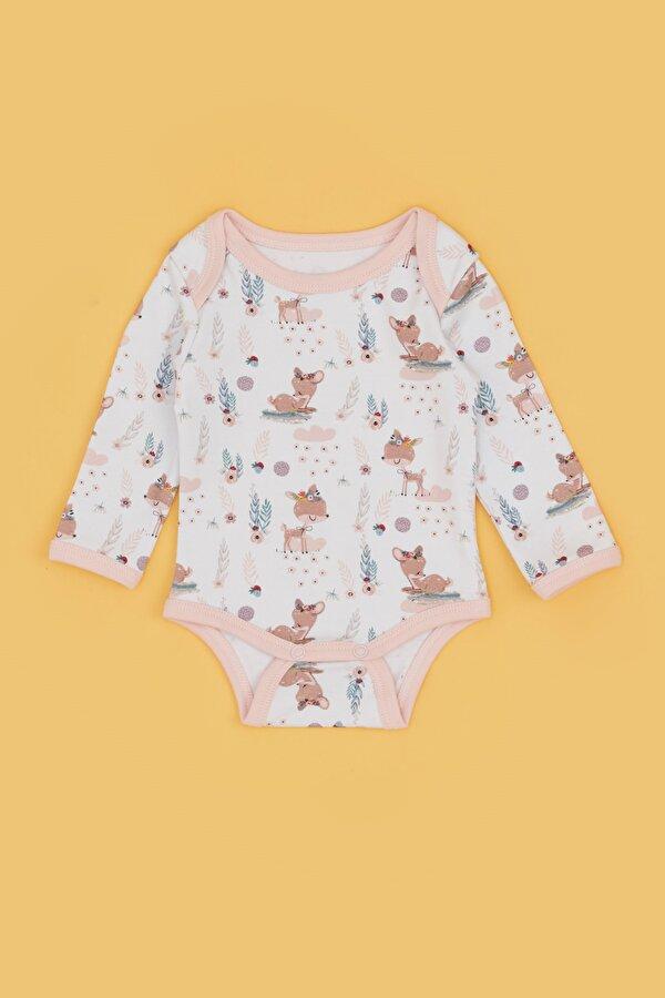 Resim Kız Bebek Desenli 3lü Body