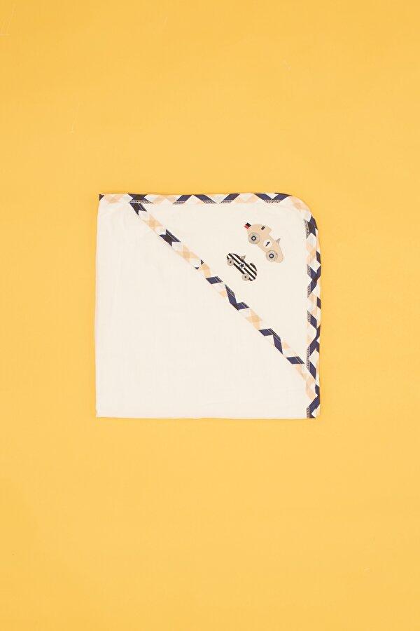 Resim Erkek Bebek Beyaz Havlu