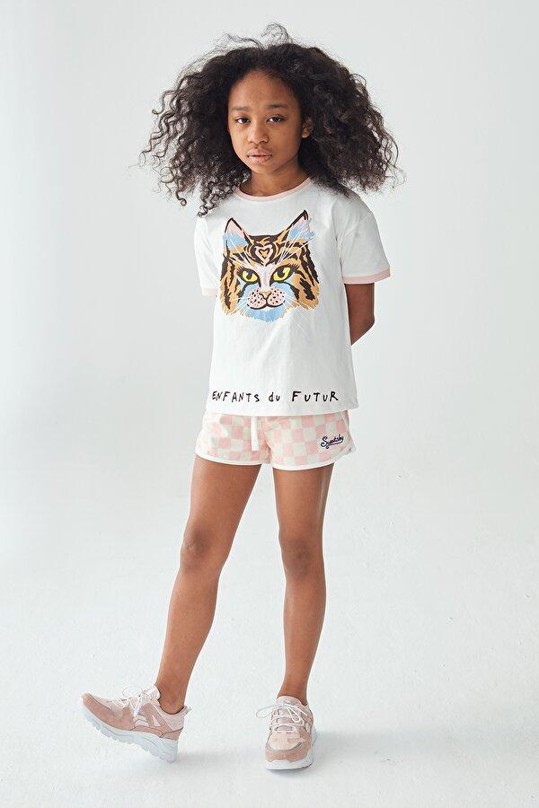 Resim Kız Çocuk Desenli Şort