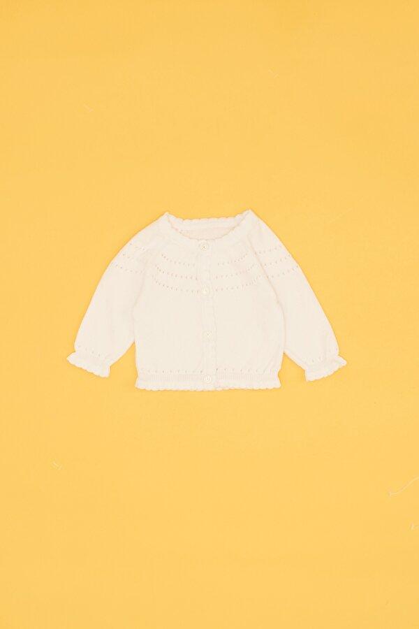 Resim Kız Bebek Beyaz Hırka