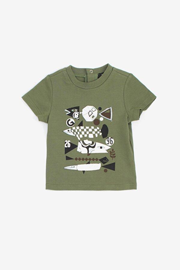 Resim Erkek Bebek Haki T-Shirt