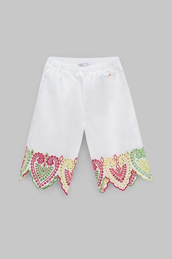 Resim Kız Bebek Beyaz Pantolon