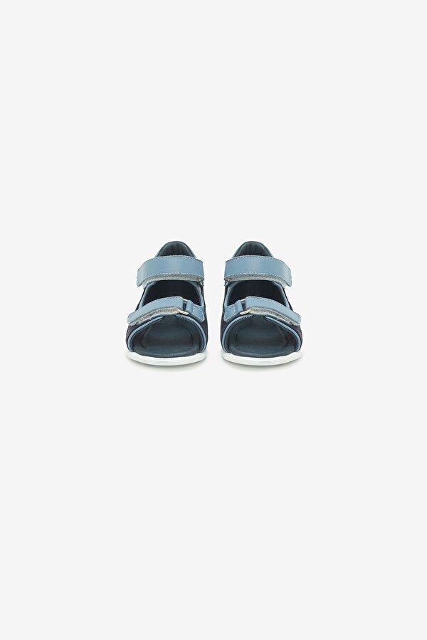 Resim Erkek Bebek Mavi Sandalet