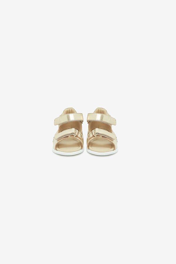 Resim Kız Bebek Altın Sandalet