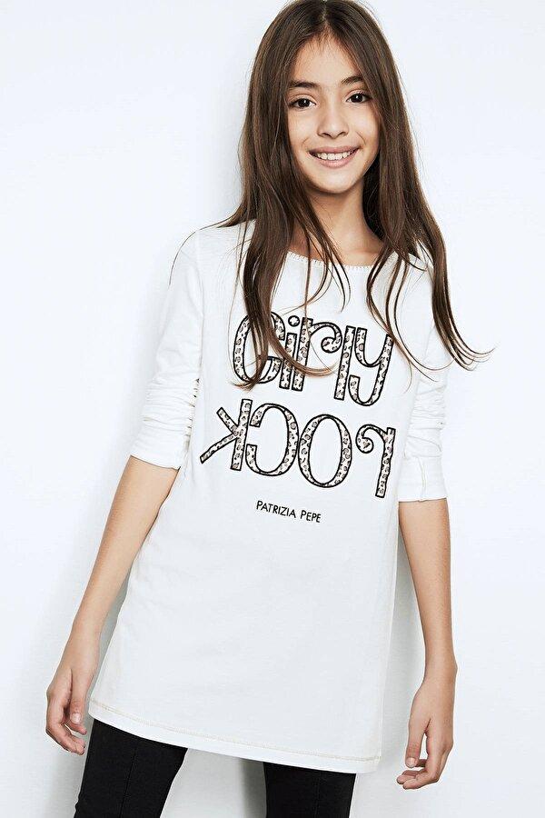 Resim Kız Çocuk Ekru T-Shirt