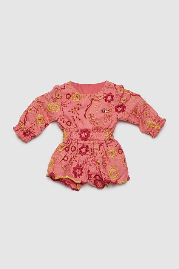 Resim Kız Bebek Desenli Tulum