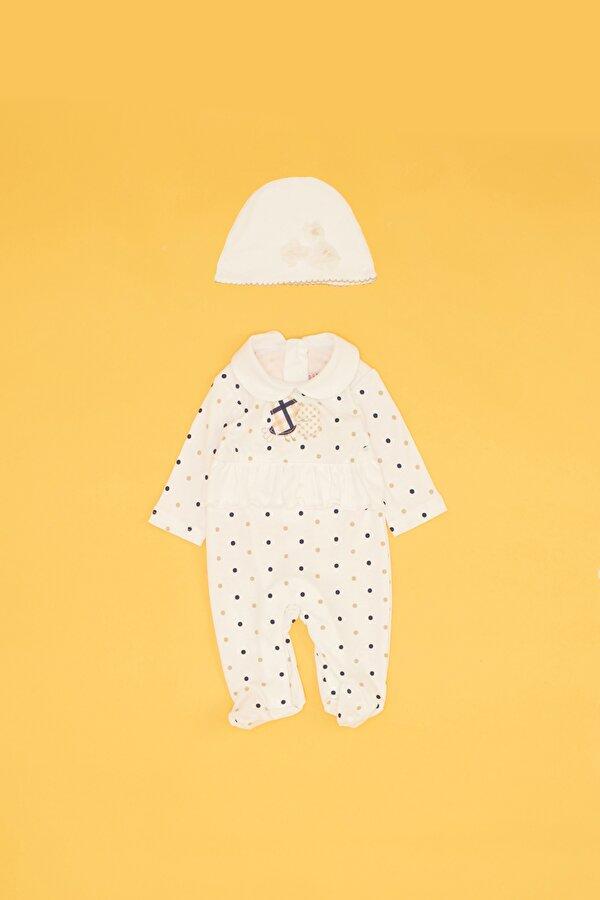 Resim Kız Bebek Desenli Tulum Takımı