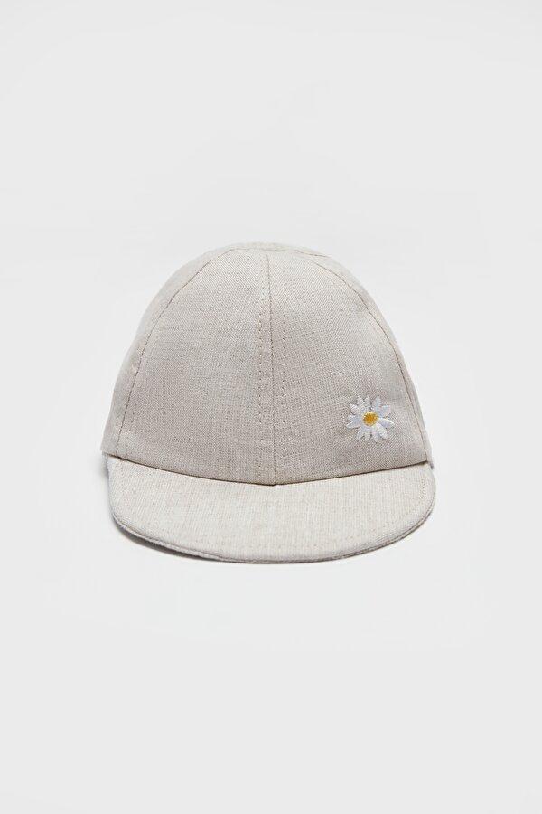 Resim Kız Bebek Bej Şapka