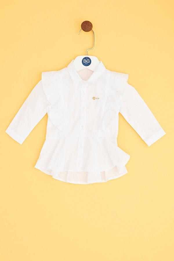 Resim Kız Bebek Ekru Gömlek