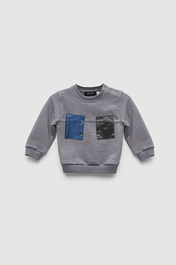 Resim Erkek Bebek Gri S-Shirt