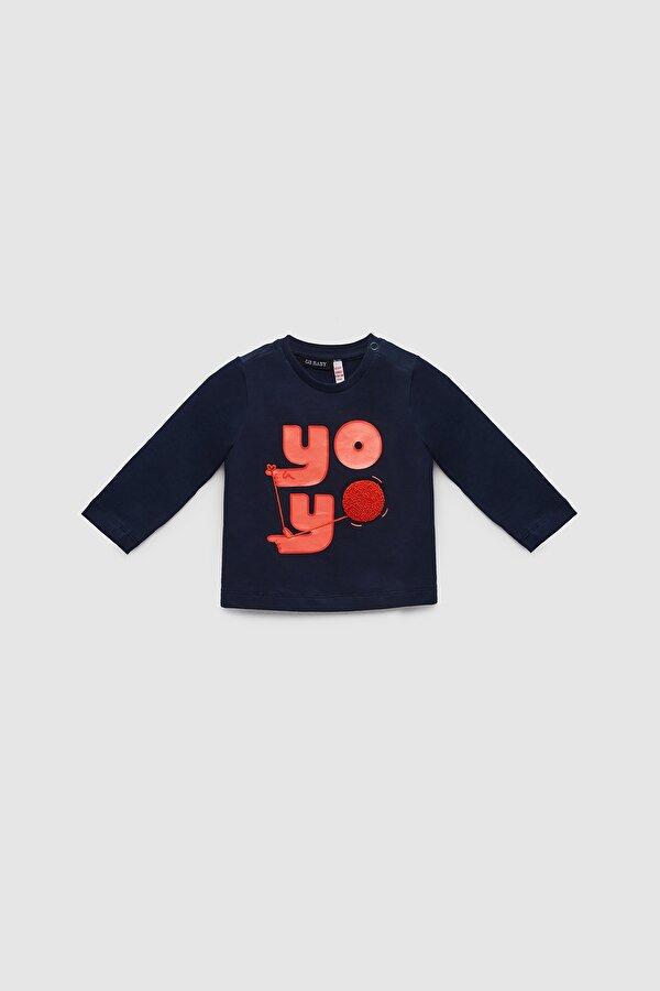 Resim Erkek Bebek Lacivert T-Shirt