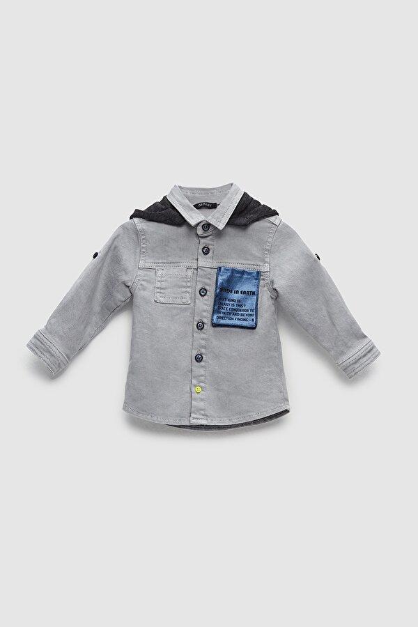 Resim Erkek Bebek Jean Gömlek