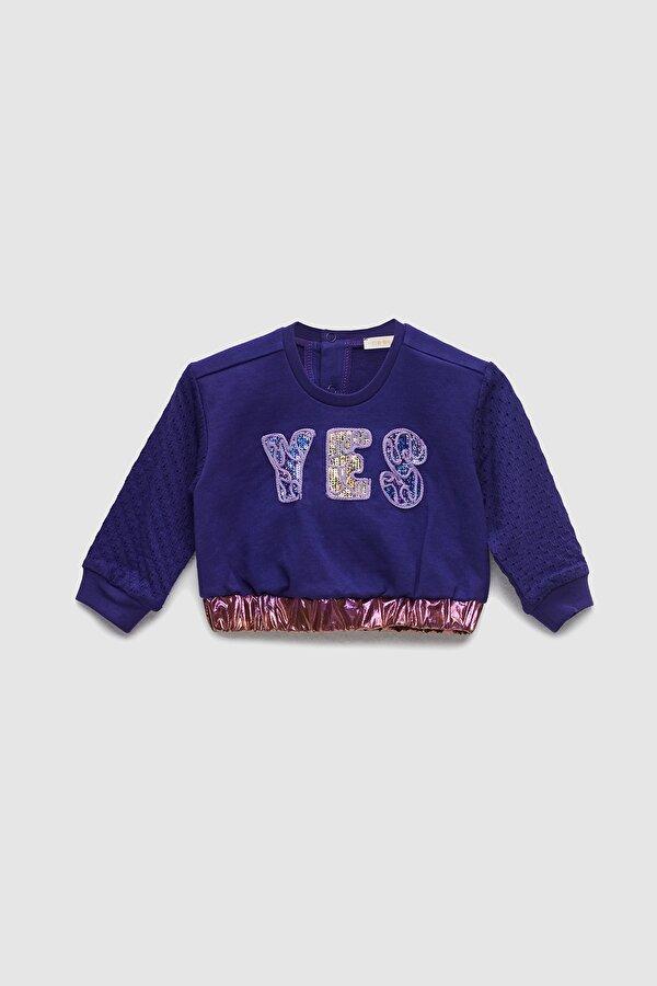 Resim Kız Bebek Mor S-Shirt
