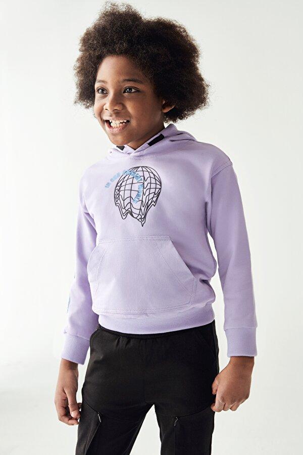 Resim Erkek Çocuk Lila S-Shirt