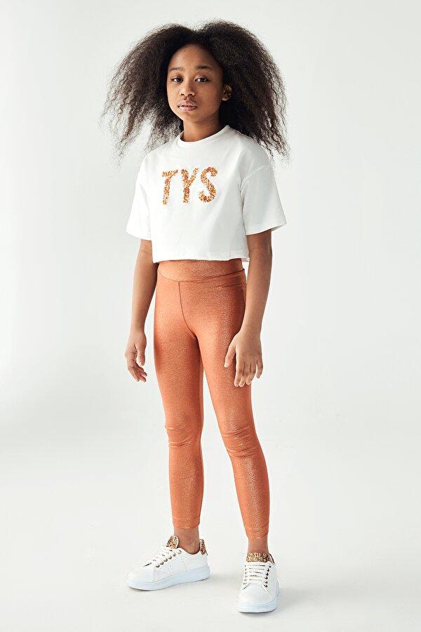 Resim Kız Çocuk Bronz Tayt