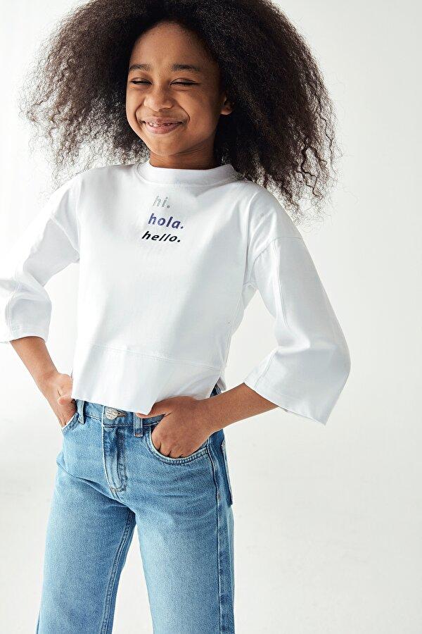 Resim Kız Çocuk Beyaz S-Shirt