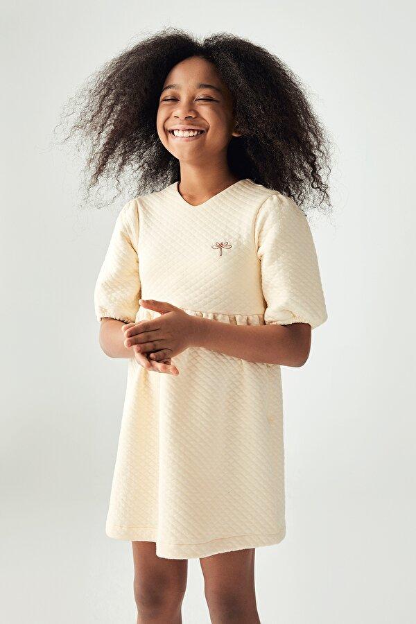 Resim Kız Çocuk Bej Elbise