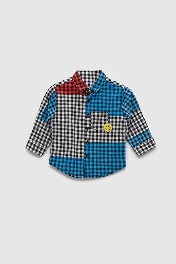 Resim Erkek Bebek Ekose Gömlek