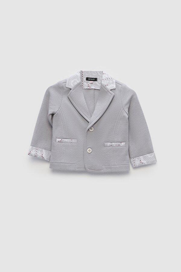 Resim Erkek Bebek Gri Ceket