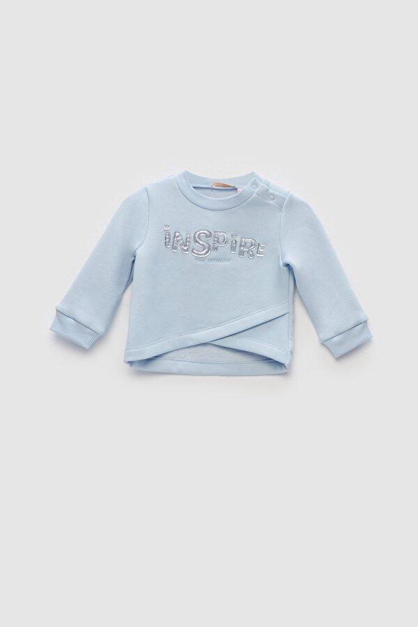 Resim Kız Bebek Mavi S-Shirt