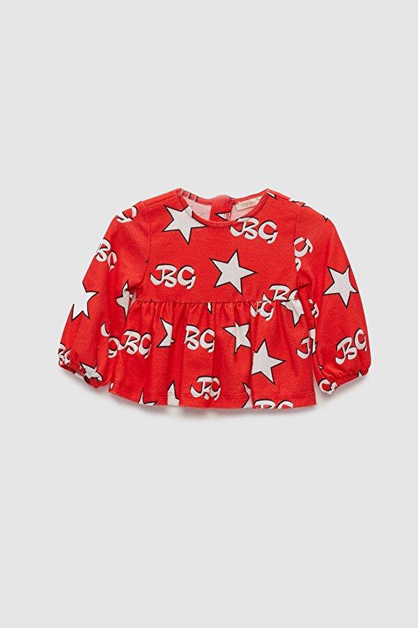 Resim Kız Bebek Kırmızı Bluz