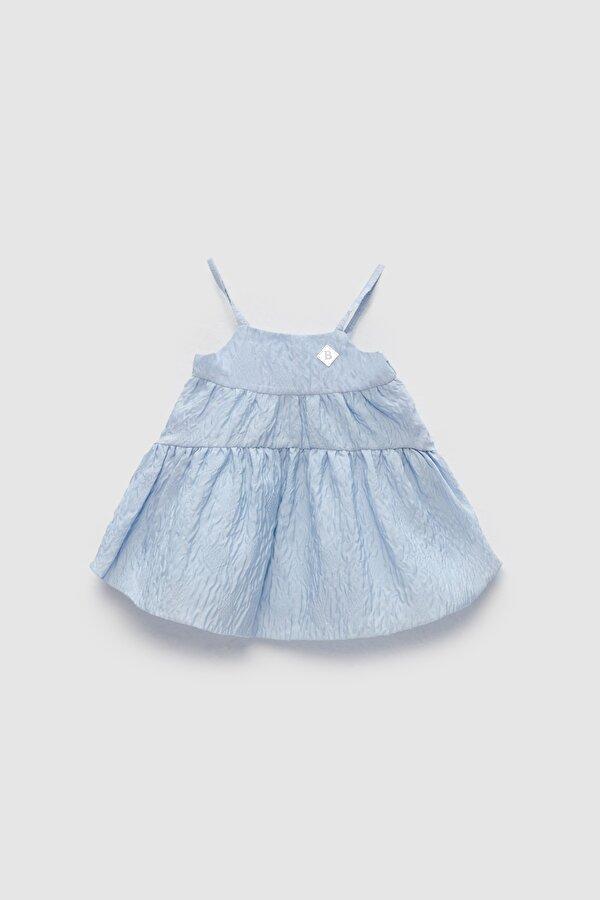 Resim Kız Bebek Mavi Elbise