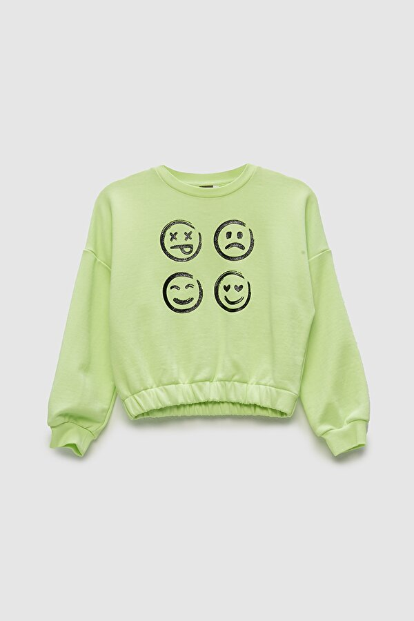Resim Kız Çocuk Neon Yeşil S-Shirt