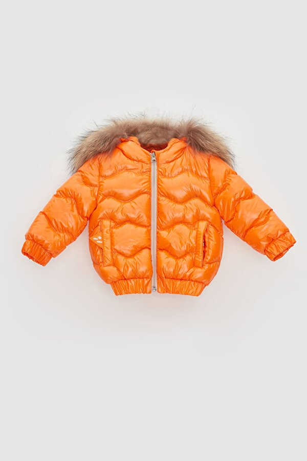 Resim Erkek Bebek Oranj Mont