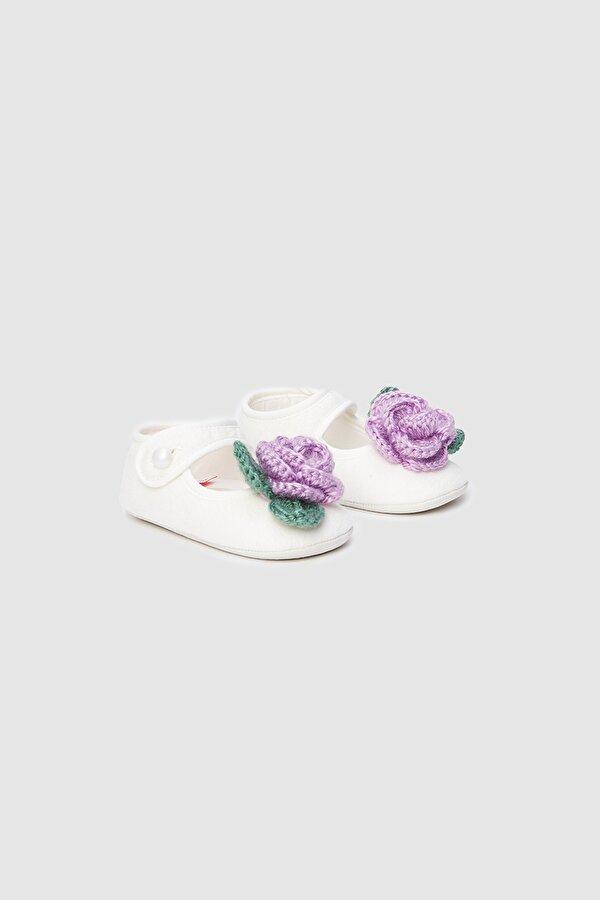 Resim Kız Bebek Beyaz Patik