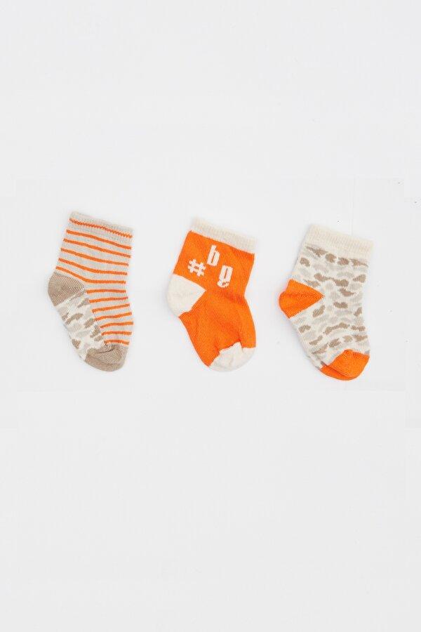 Resim Erkek Bebek Desenli 3lü Çorap