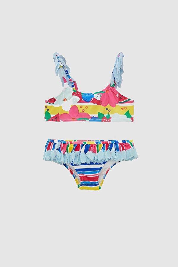 Resim Kız Bebek Desenli Bikini